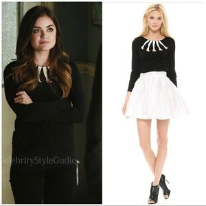 Alice + Olivia Intarsia legs sweater M